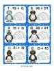Penguin Double Digit Addition Task Cards
