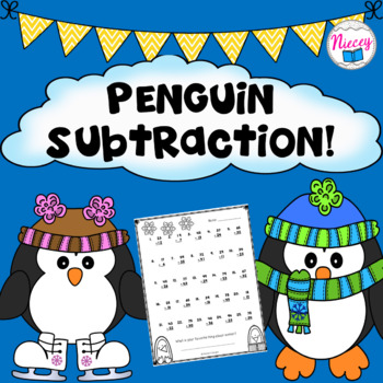 Penguin Double Digit Subtraction