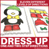 Penguin Dress Up Following Directions File Folder Activity