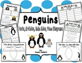 Penguin Fact Packet {Graphic Organizer, Venn Diagram, KWL, Main Idea}
