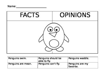 Penguin Fact and Opinion Sort