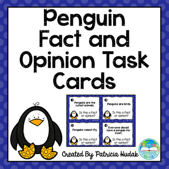 Penguin Fact and Opinion Task Cards