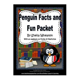Penguin Facts & Fun Packet:  Literacy, Math, and More!