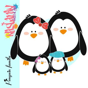 Penguin Family Clipart