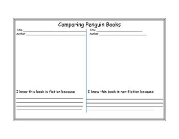 Penguin Fiction/Non-fiction Book Comparison