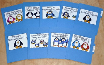 Penguin File Folder Games