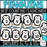 Penguins Skip Counting Flashcards (Counting by 2s, 5s and 10s)