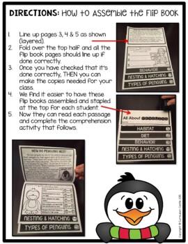 Penguins Flip Book {Reading Comprehension & Craft}