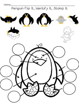 Penguin Flip It, Match It, Stamp It & Penguin Sorting Fish Freebie