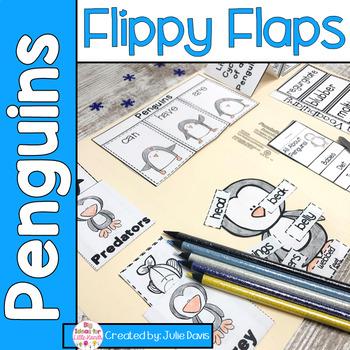 Penguin Flippy Flaps Interactive Notebook Lapbook