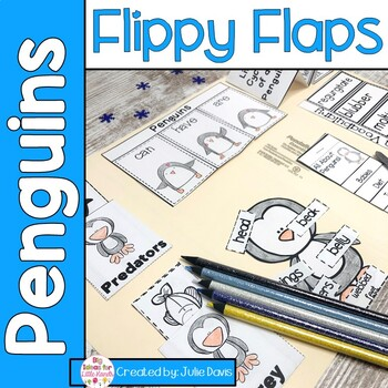 Penguin Flippy Flaps Interactive Notebook Lapbook