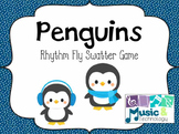Penguin Rhythm Fly Swatter Game