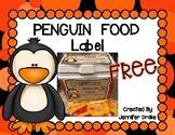 Penguin Food Label
