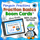 Basic Fraction Concepts Boom Cards with Audio (Penguin Fractions)