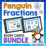 Penguin Fractions Boom Cards Bundle (with Audio Read-Aloud