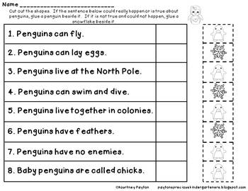 Penguin Fun! Kindergarten Unit - Common Core Aligned