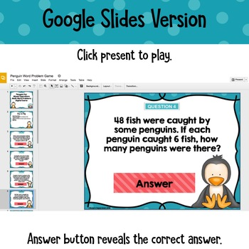 Word Problems Digital Game~ Four Operations