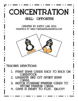 Penguin Fun with Opposites