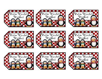 Penguin Gift Tags - Christmas Tags - Holiday Tags
