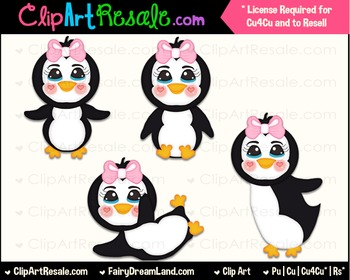 Penguin Girls ClipArt - Commercial Use