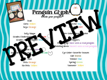 Penguin Glyph and Writing Activity