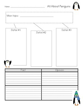 Penguin Graphic Organizers