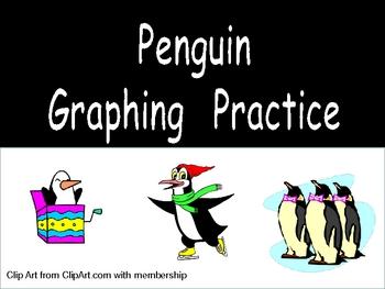 Penguin Graphing Practice for Kindergarten