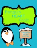 Penguin Heart Craft WIth Differentiated Directions