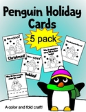Penguin Holiday Card 5 pack!