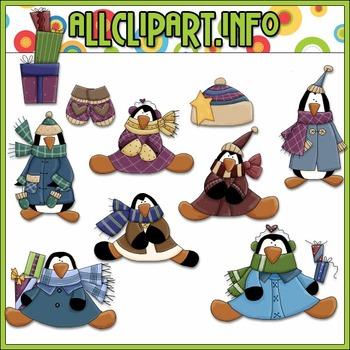 Penguin Hollyday Clip Art - Alice Smith Clip Art