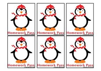 Penguin Homework Pass Freebie!