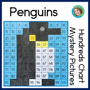 Penguin Hundreds Chart Mystery Pictures