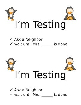 Penguin I'm Testing Sign Preview
