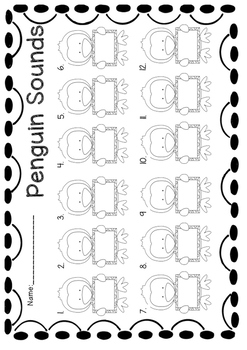 Penguin Initial Sounds Word Work