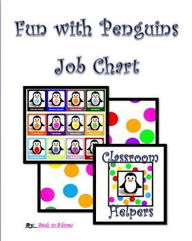 Penguin Inspired Classroom Job Chart