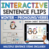 Penguin Winter Interactive Sentence Flips- Pronouns Is/Are Verbs