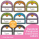 Penguin Labels / Name Tags for the Classroom {Editable}