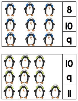 Penguin Large Clip Cards