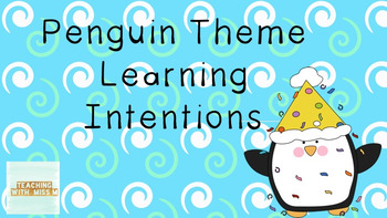 Penguin Learning Intentions #ausbts18