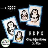 Penguin Letter Identification Center for B D P and Q {FREEBIE!}