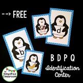 Penguin Letter Identification Center for B D P and Q {FREEBIE!}