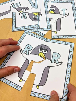 Penguin Theme - Letter Match Literacy Center Activity