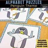 Alphabet Practice Matching Puzzles | Penguin Theme