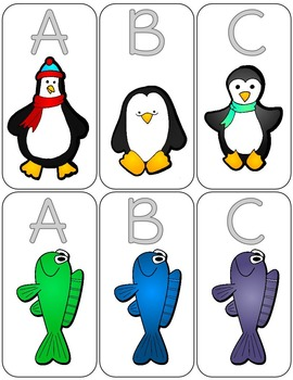 Penguin Letter Matching Game
