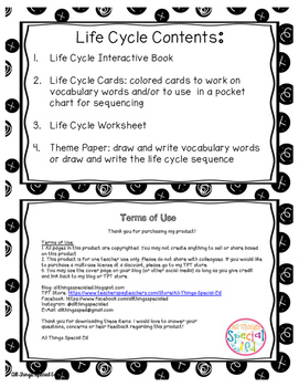 Penguin Life Cycle adapted book and activities