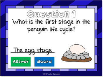Penguin Life Cycle Mini Powerpoint Game