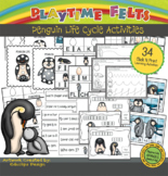 Penguin Life Cycle PreK Printable Worksheets