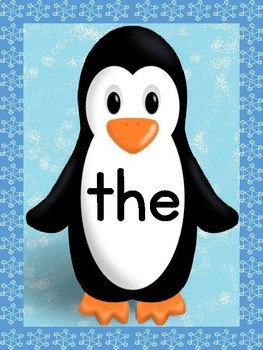 Penguin List 1 From Fry First 100 High Frequency Sight Word Posters & Flashcards