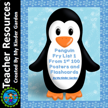 Penguin List 1 From  Fry First 100 Sight Word Posters and