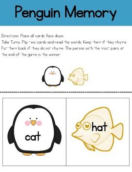 Penguin Literacy Centers for Kindergarten